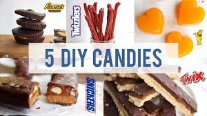 popular candy made healthy 5 diy halloween treats youtube