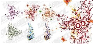 wallpaper bunga lingkaran pola melingkar dan tren komposisi bahan vektor vektor bunga vektor