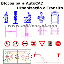 Top Blocos CAD/Dwg Equipamento Urbano e Trânsito para AutoCAD  &SJ73