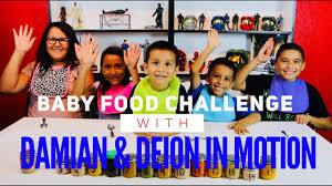 Challenge In Motion Baby Food Challenge With Damian And Deion In Motion