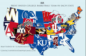 Nba Divisions Map Here U0027s A Map Of The Most Hated Team In College Hoops By State