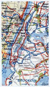 Map Of New York And Manhattan by Highways Map Of Manhattan And Surrounding Area New York New