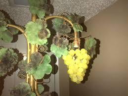 Glass Fruit Chandelier by 3 Vintage Czech Glass Beaded Grape Shade Cluster Fruit Chandelier