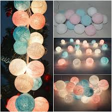 5m long cotton ball light fairy light string with 20 pcs cotton