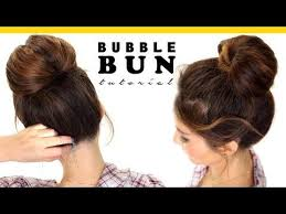 easy hairstyles with box fishtales 2 minute bubble bun hairstyle easy hairstyles for medium long
