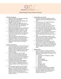 seven essential policies for children u0027s ministry u0026 a free sample