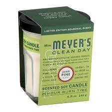 Home Sick Candles Mrs Meyer U0027s Clean Day Glass Candle Iowa Pine 4 9 Oz Walmart Com