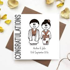 wedding congratulations congratulations wedding card traditional japanese dress by the