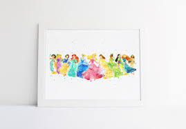 Princess Wall Decals For Nursery by Disney Princess Collection Disney Watercolor Nursery Princess