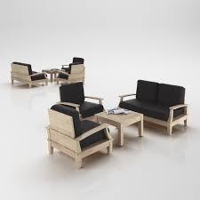 scandinavian design scandinavian design armchairs set 3d model cgtrader