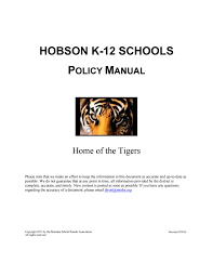 hobson public schools policy manual by montana boards