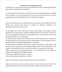 10 service termination letter templates free sample example