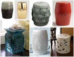 furniture green ceramic garden stool for outdoor furniture ideas