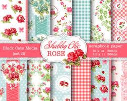 Shabby Chic Rose by Shabby Chic Digital Paper