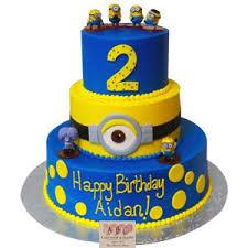 minions birthday cake 2183 3 tier minion birthday cake abc cake shop bakery