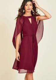 icing on the cape a line dress in burgundy modcloth