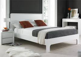 Cheap King Size Bed Frames by Ice 2 High Gloss Bed Frame Wooden Beds Beds