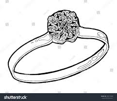 ring sketch hand drawn ring jewelry stock vector 436137460