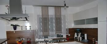 gardine für küche dezenter stufen schiebevorhang für die küche gardinen deko