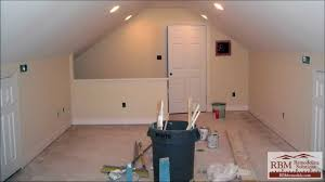 Living Space Above Garage Finishing An Attic To Living Space Youtube