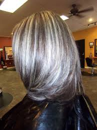 shag haircut brown hair with lavender grey streaks best highlights to cover gray hair wow com image results