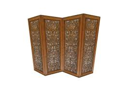 Screen Room Divider Second Marketplace Carved Wood 4 Panel Screen Room Divider