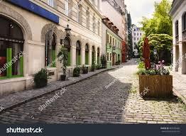 nice cozy street old town vienna stock photo 465182426 shutterstock