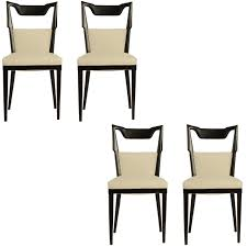 1950 dining room furniture set of four paolo buffa dining chairs 1950