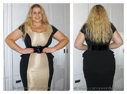 curvy wordy simply be wow peplum illusion dress