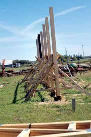 How To Build A Wood Floor With Pole Barn Construction by Do It Yourself Pole Barn Building Diy Mother Earth News