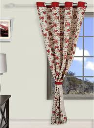 buy swayam printed eyelet maroon curtains online india best