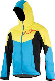 bike outerwear alpinestars milestone 2 bicycle jacket jackets bike blue yellow