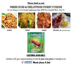 cuisine etc manila cuisine fresh subs aka fresh california subs home
