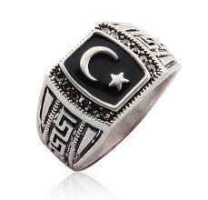 star rings silver images Antique silver color mmuslim moon star ring muhammed muslim jpg