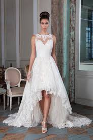 high to low wedding dress style 9818 embroidered lace high low bridal gown justin