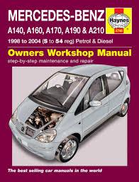 mercedes repair manuals mercedes a class petrol diesel 98 04 haynes repair
