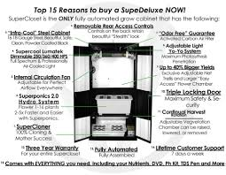 Superclosets by Deluxe 3 0 Grow Closet Grow Box U0026 Hydroponic Cabinet System