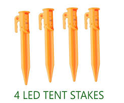 4 led light up tent stakes survival lights national parks