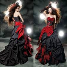 red and black ball gown wedding dresses 2017 sale sweetheart
