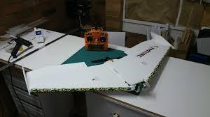 kfm6 flying wing u2013 plans red20rc