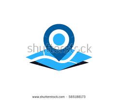 map logo map pin logo design element stock vector 585188173