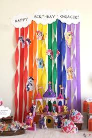 party streamers cool streamer decorations my pony rainbow birthday party