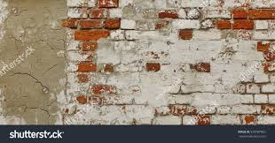 Exposed Brick Wall by Empty Old Exposed Brick Wall White Stock Photo 539787865