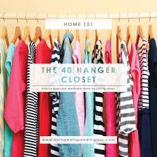 the 40 hanger closet minimalist living
