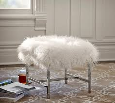 Best 25 Pottery Barn Inspired Awesome Tavi Mongolian Faux Fur Stool Pottery Barn Regarding