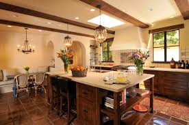 kitchen in california spanish style home with contemporary twist