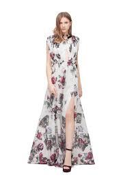 Long Draped Dress Long Draped Dress With Piercing Details Long Dresses Ready To