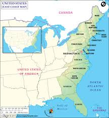 map of eastern usa and canada east coast map map of east coast east coast states usa eastern us