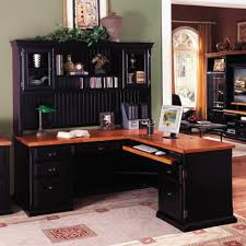 home office awesome home office design with corner black l shaped