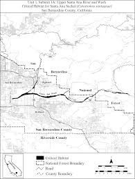 Ana Route Map Federal Register Endangered And Threatened Wildlife And Plants